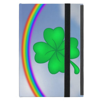 Capa iPad Mini Trevo De Quatro Folhas com arco-íris