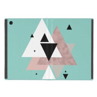 Capa iPad Mini triângulos geométricos da hortelã cor-de-rosa