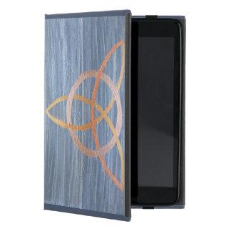 Capa iPad Mini Trindade metálica azul de Triquetra do ouro