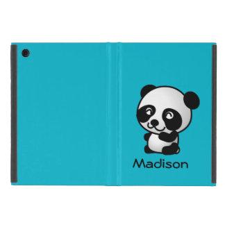 Capa iPad Mini Urso de panda preto e branco feliz bonito