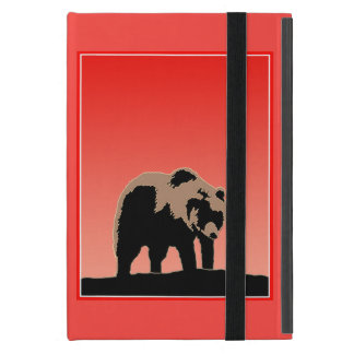 Capa iPad Mini Urso de urso no por do sol
