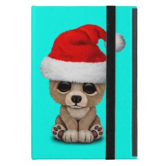 Capa iPad Mini Urso do bebê que veste um chapéu do papai noel