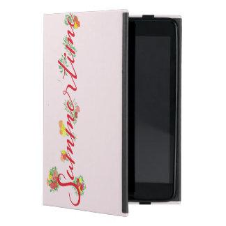 Capa iPad Mini Verão floral - caso cor-de-rosa do iPad