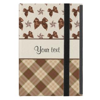 Capa iPad Mini Verificações de Brown & arcos bonitos