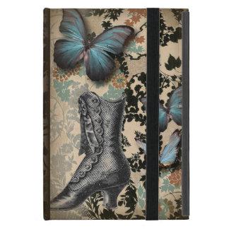 Capa iPad Mini victorian floral da borboleta das coisas efêmeras
