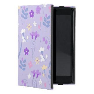 Capa iPad Mini violeta, lavanda, bonito, floral, cor-de-rosa,