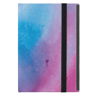 Capa iPad Mini Watercolour de mármore cor-de-rosa e azul