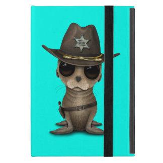 Capa iPad Mini Xerife bonito do leão de mar do bebê