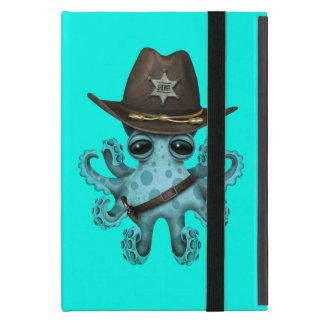 Capa iPad Mini Xerife bonito do polvo do bebê azul