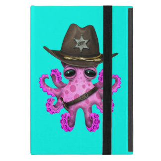 Capa iPad Mini Xerife cor-de-rosa bonito do polvo do bebê