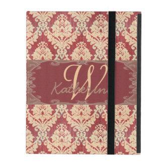 Capa iPad Monograma do damasco do vintage