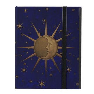 Capa iPad Noite estrelado da lua celestial de Sun