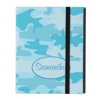 Capa iPad Nome da camuflagem de Camo do azul de turquesa