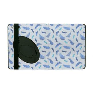 Capa iPad O azul mancha a caixa do iPad 2/3/4 com Kickstand
