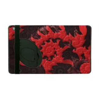 Capa iPad O beijo espiral preto e vermelho de um escorpião