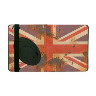 Capa iPad O vintage oxidou bandeira de Reino Unido