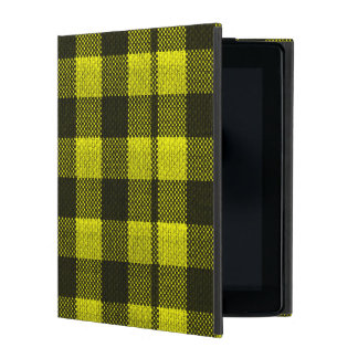 Capa iPad Olhar Checkered de serapilheira do teste padrão do