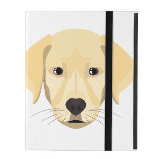 Capa iPad Ouro Retriver do filhote de cachorro da ilustração