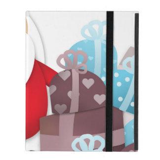 Capa iPad Papai noel & sua rena com presentes