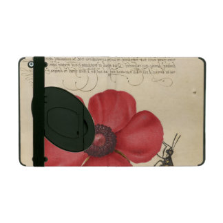 Capa iPad Papoila vermelha e o inseto