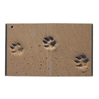 Capa iPad Pegadas animais na areia