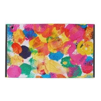Capa iPad Pintura abstrata colorida bonito