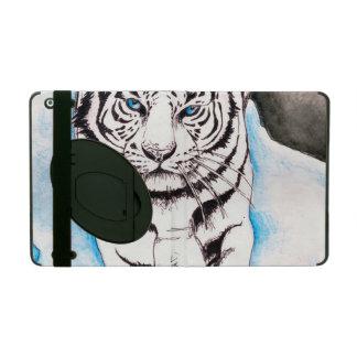Capa iPad Porca branca do tigre Siberian