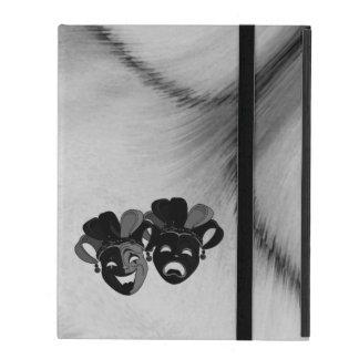Capa iPad Prata das máscaras do bobo da corte do teatro da