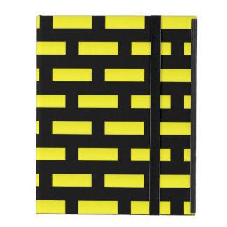 Capa iPad Preto e amarelo do teste padrão da parede