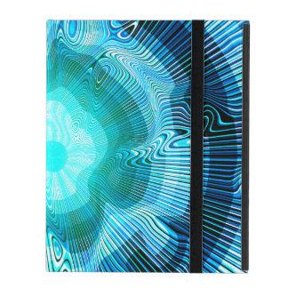 Capa iPad Psicadélico espiral azul