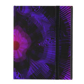 Capa iPad Psicadélico espiral roxo