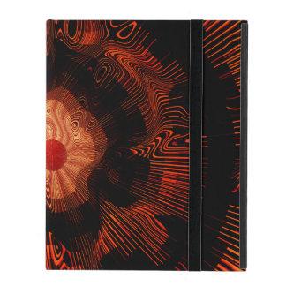 Capa iPad Psicadélico espiral vermelho