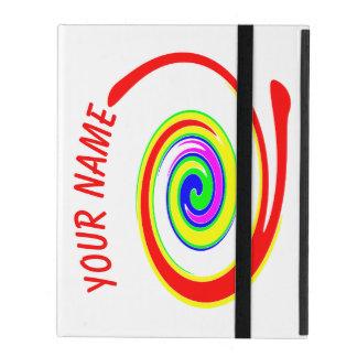 Capa iPad Redemoinho colorido. Adicione seu texto