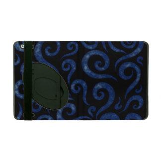 Capa iPad Redemoinhos Textured azuis