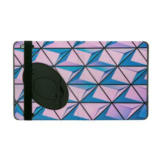 Capa iPad Rosa e teste padrão geométrico azul