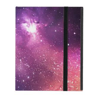 Capa iPad Roxo e galáxia e estrelas do marinho