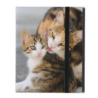 Capa iPad Sira de mãe ao gatinho bonito dos amores do gato -
