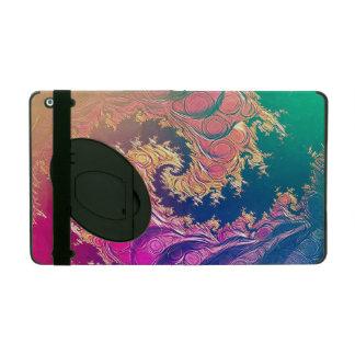 Capa iPad Tentáculos do polvo do arco-íris em uma espiral do