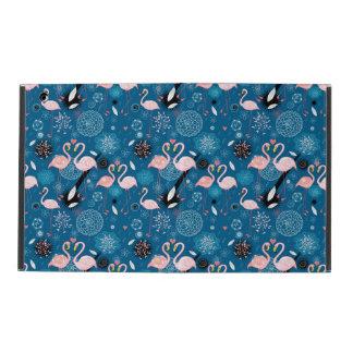 Capa iPad Teste padrão bonito dos flamingos das flores