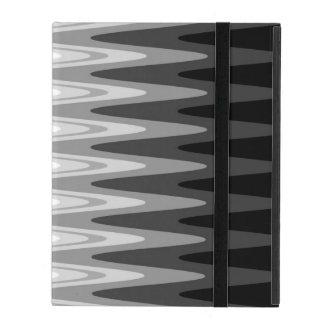 Capa iPad Teste padrão cinzento branco preto do ziguezague
