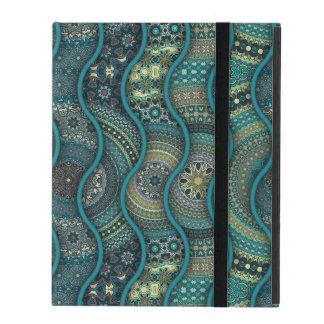 Capa iPad Teste padrão floral étnico abstrato colorido da