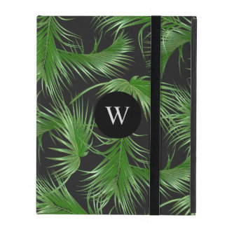 Capa iPad Teste padrão tropical das frondas da palma com