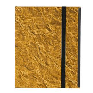 Capa iPad Textura dourada