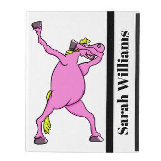 Capa iPad Toque ligeiro cor-de-rosa do cavalo