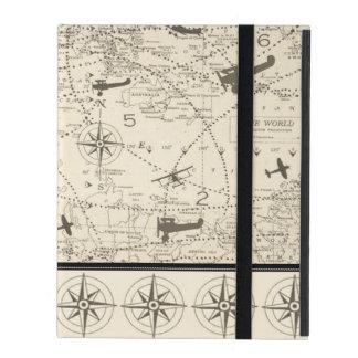 Capa iPad Trajeto de vôo dos planos
