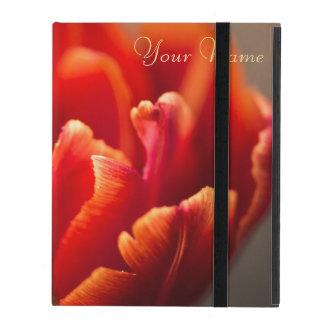 Capa iPad Tulipa vermelha