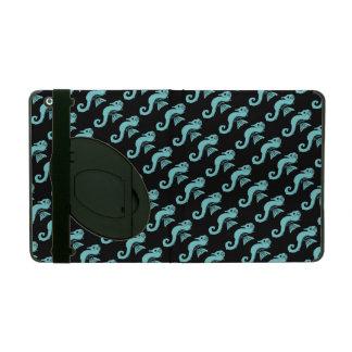 Capa iPad turquesa do cavalo marinho