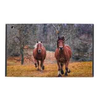 Capa iPad Um par de cavalos Running