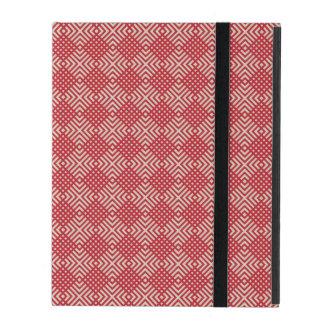 Capa iPad Vermelho carmesim & creme de Cornsilk