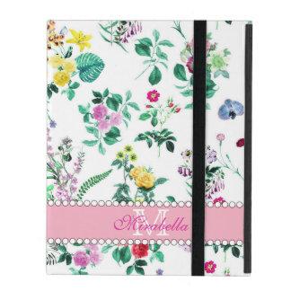 Capa iPad Wildflowers & rosas amarelos vermelhos roxos